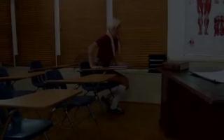 Unglaubliche Blonde Lehrerin