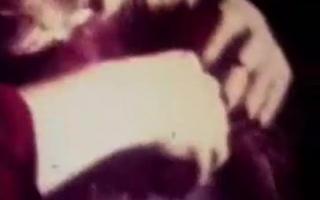 Vintagesex mit einem gemischternen Riemen