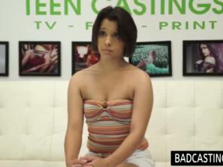 Teen beim Casting
