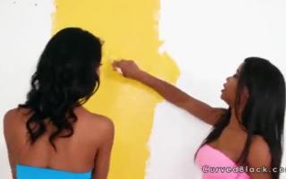 Hardcore Lesbian Bumsen unter der Dusche