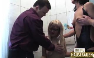 Deutsche Milf beim Sex auf der Treppe - Fotze, Strumpfhose gefüllter Klassenzoo